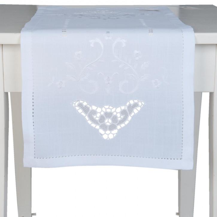Tischläufer weiß ca. 40 x 90 cm