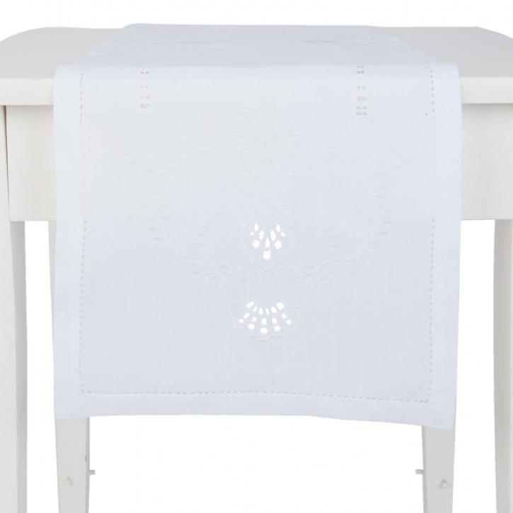 Tischläufer weiß ca. 40 x 150 cm