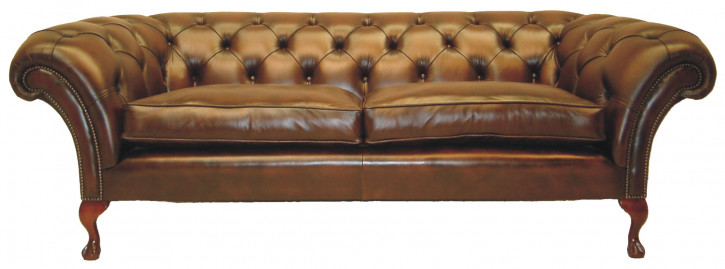 """Rayne"" Chesterfield Sofa original englisches Ledersofa 2-Sitzer"