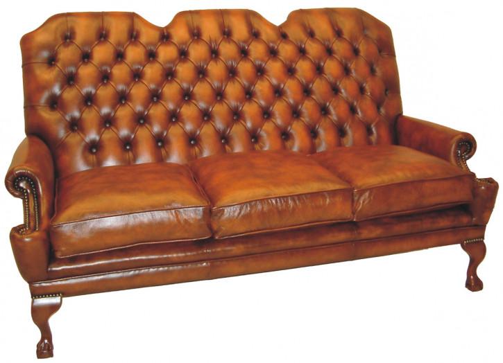 Außergewöhnlicher Chesterfield 3-Sitzer