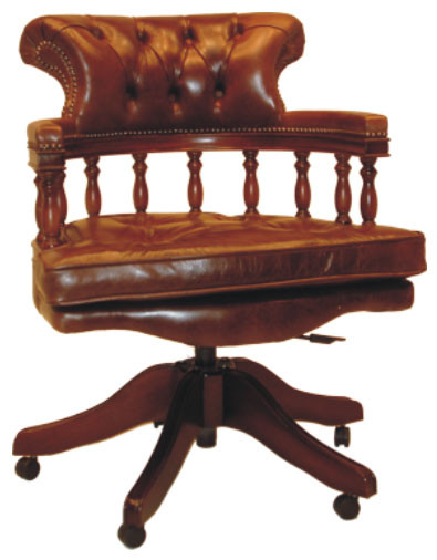 """Captain"" Chesterfield Sessel Bürostuhl"
