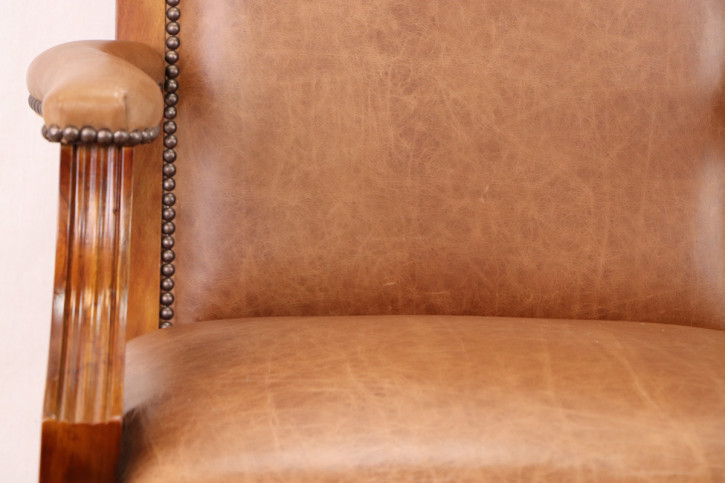 """Diane Chair with Arms"" Chesterfield Drehstuhl Vollledersessel"