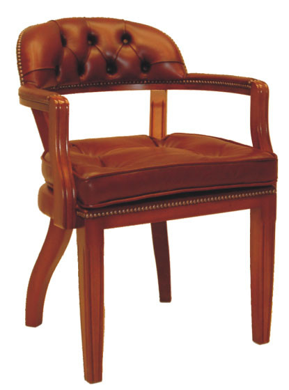 """Court Chair"" Chesterfield Lederstuhl"