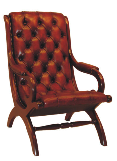 """Period Chair"" Chesterfield Ledersessel Lederstuhl"