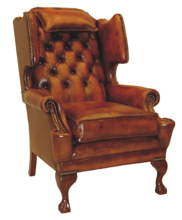 "Chesterfield Ohrensessel ""Patrick Wing Chair with Bolster"""