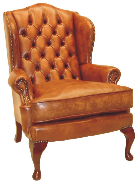 """Queen Anne Wing Chair"" Chesterfield Sessel"