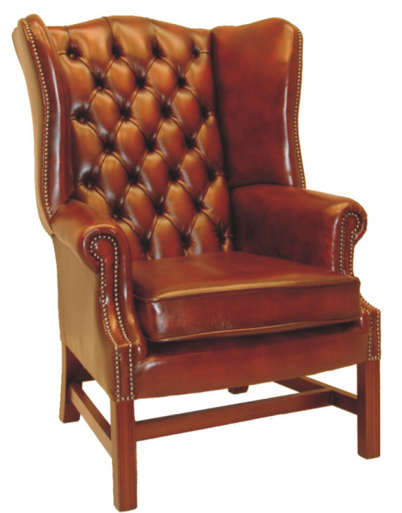 """Churchill Wing Chair"" Chesterfield Sessel"