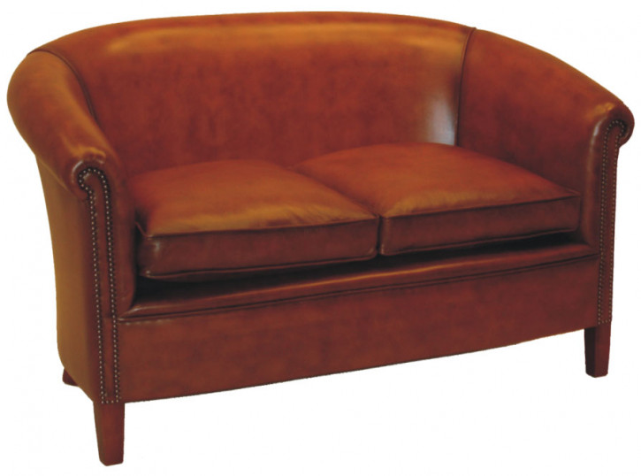 """Manor Club"" Englisches Chesterfield Sofa Original 2-Sitzer Rindsleder glatt"