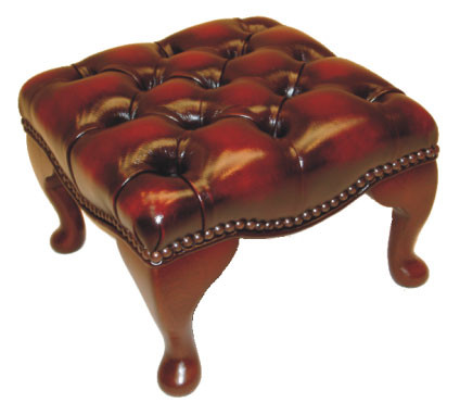 """Essex stool"" Chesterfield Hocker"