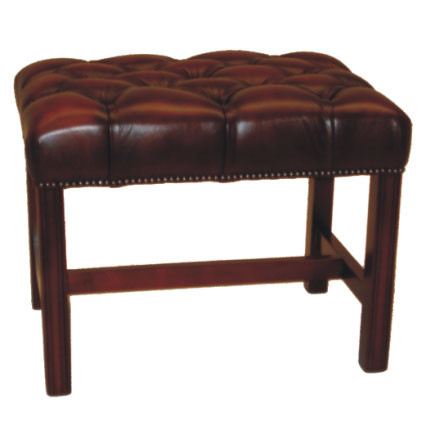 """Chippendale stool"" Chesterfield Hocker"