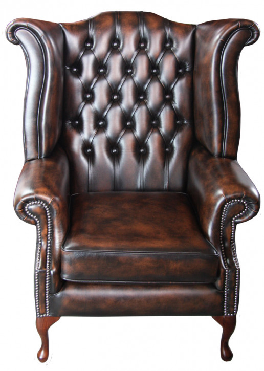 """Grand Scroll Wing Chair"" Chesterfield Ohrensessel"