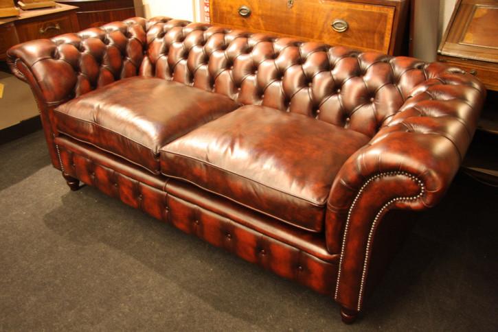 """Victorian Tub"" Original Chesterfield Sofa 3-Sitzer"