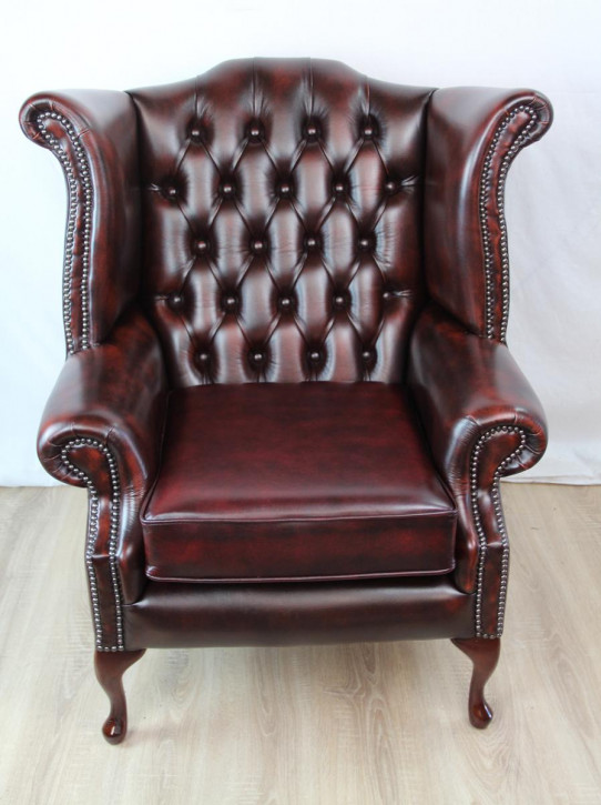 """""""Wing Chair"""" Chesterfield Ohrensessel Sofort Lieferbar in Birch Antique Rust"""
