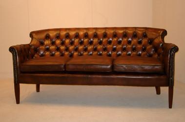 """Hannah"" original Chesterfield Leder Sofa 3-Sitzer"