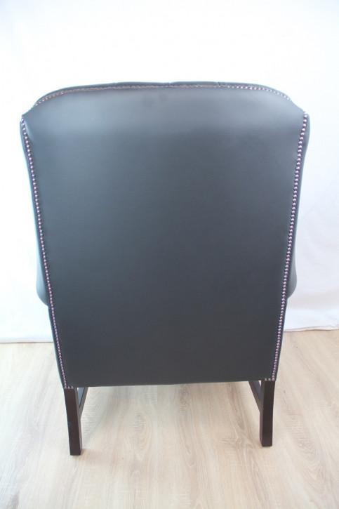 """Hawkins Wing Chair"" Chesterfield Sessel  Sofort Lieferbar in Birch Black"