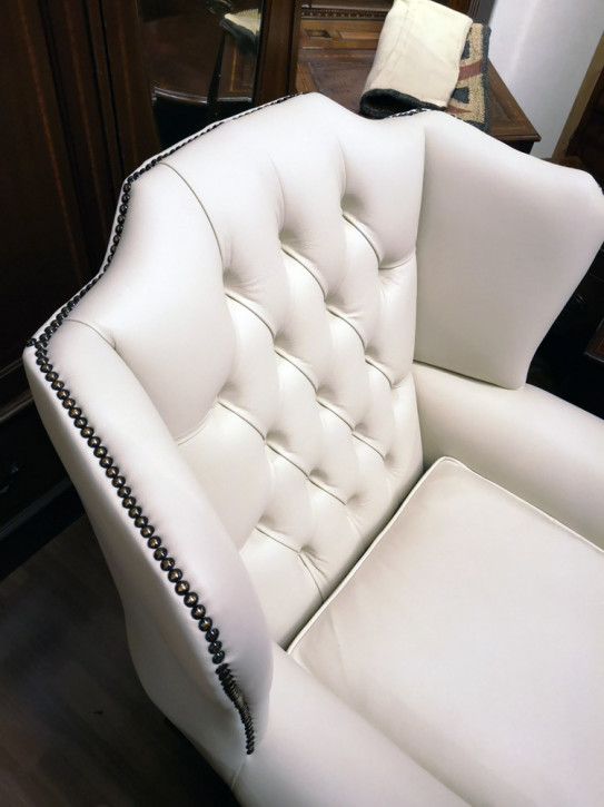"""""""Queen Anne Hump"""" Chesterfield Sessel"""