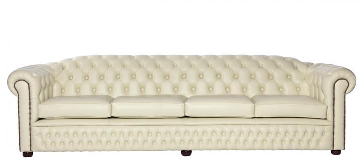 """Cambridge"" Chesterfield Sofa Original 4-Sitzer englisches Ledersofa"