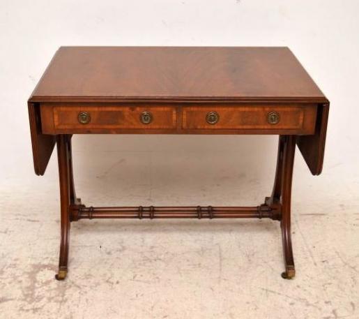 Edwardian Sofa Tisch mit Intarsien