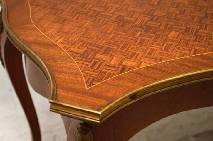 Französicher  Inlaid Parquetry Coffee Table