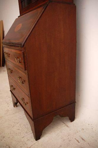 Edler antiker Edwardianischer  Sekretär Mahagoni Bureau Bookcase