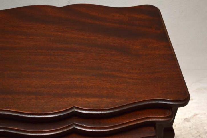 Antikes Nest of Tables Edwardian Beistelltisch Holztisch 3er Set Mahagoni Tisch