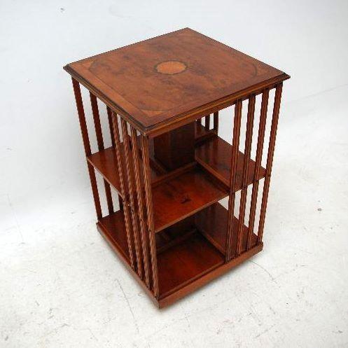 Drehbares Bücherregal aus Eibenholz - Edwardian