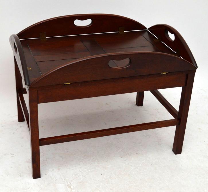 Butler's Tray antik aus Mahagoni