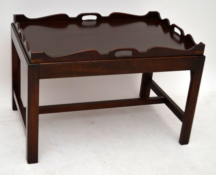 Antiker Mahogany Tray Top Table Kaffeetisch