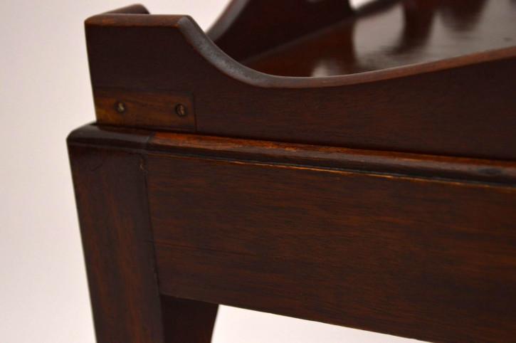 Antiker Mahogany Tray Top Table Kaffeetisch
