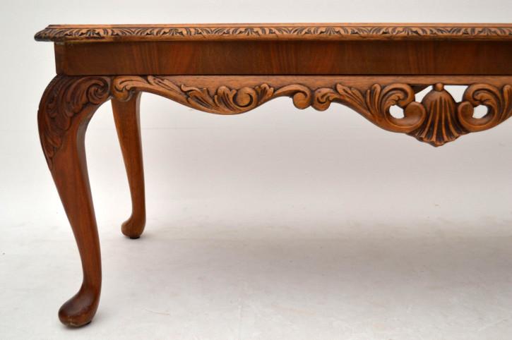 Antiker Queen Anne Style Walnuss Couchtisch Sofatisch aus Mahagoni Antik Tisch Beistelltisch