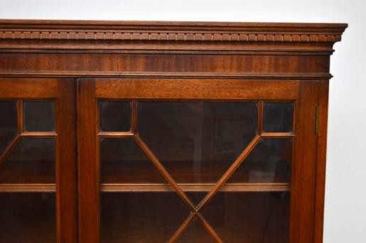 Antikes  Georgian Style  Großes  Mahogany Bookcase