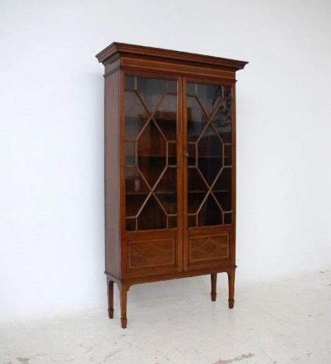 Antiker Edwardian Bücherschrank - Mahagoni