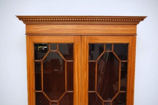 Two Door Bookcase satin wood sehr rar