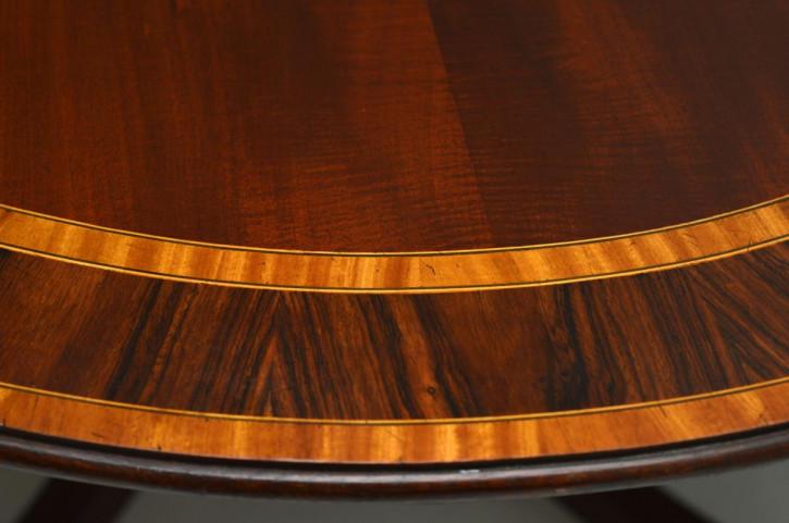 Ovaler Esstisch Mahagoni antik