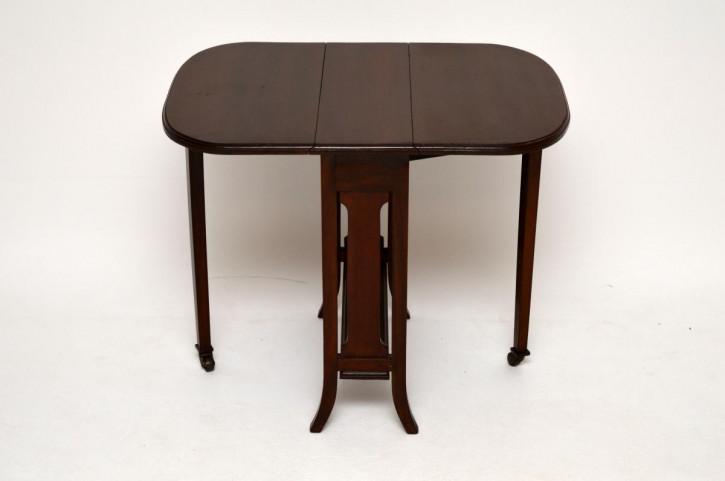Faltbarer antiker Edwardian Mahagoni Sutherland Tisch