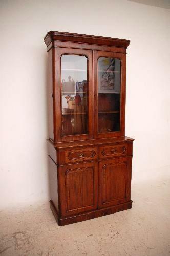 Antique Victorian Mahagoni Bookcase Original 1860
