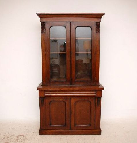 Zweigeteiltes  Bookcase Antique Victorian Walnut