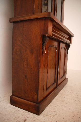 Zweigeteiltes  Bookcase Antique Victorian Walnut