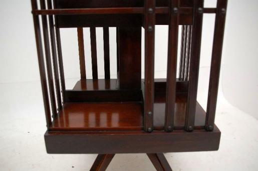 kleines antikes Edwardianisches Mahagoni  Revolving Bookcase