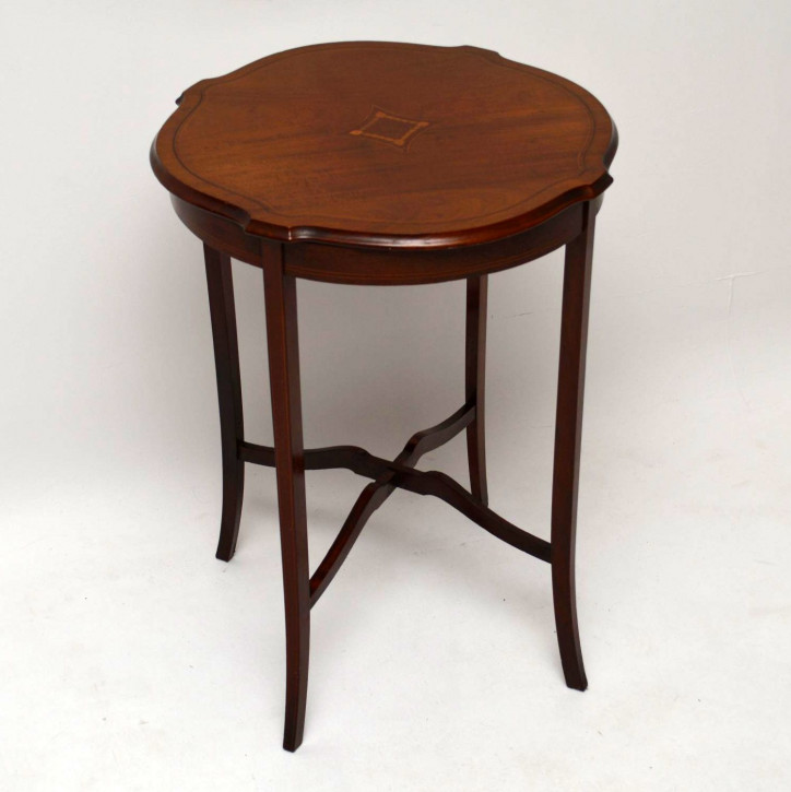 Antique Edwardian Inlaid Mahogany Occasional Table