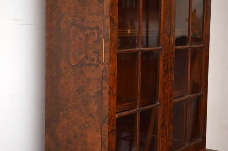 Ansprechender Bücherschrank mit Glastüren