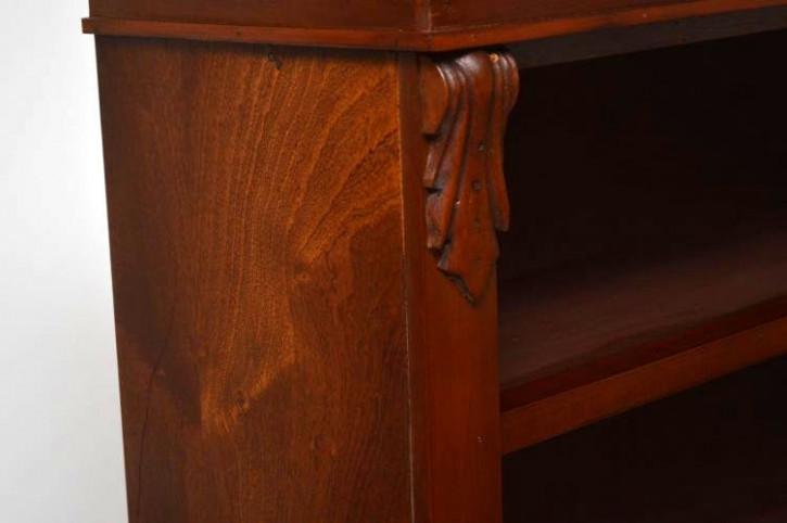 Offenes Bücherregal rekonstruiert aus Mahagoni