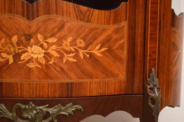 Cabinet Vitrine halbrund mit Samteinlage