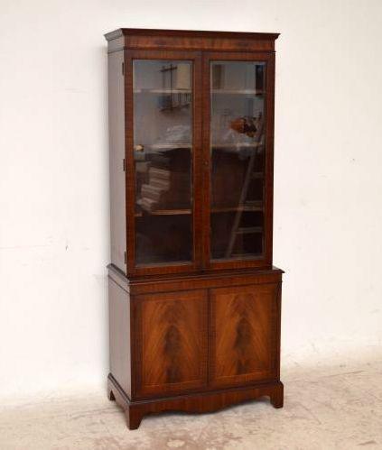Antikes Bücherregal Bookcase Georgian Mahagoni Bücherschrank Holzschrank Vitrine