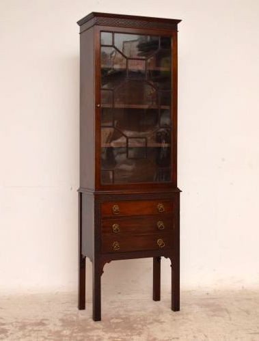 Schlankes Edwardian Bookcase