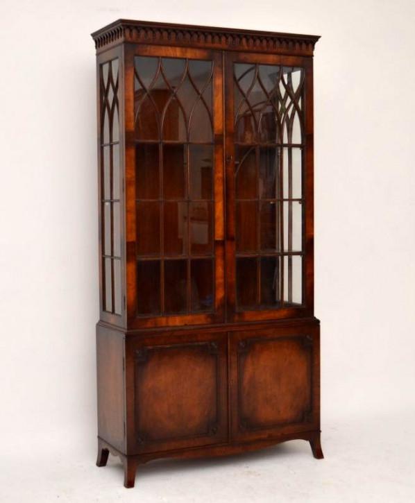 Antikes Flame Mahogany Bookcase