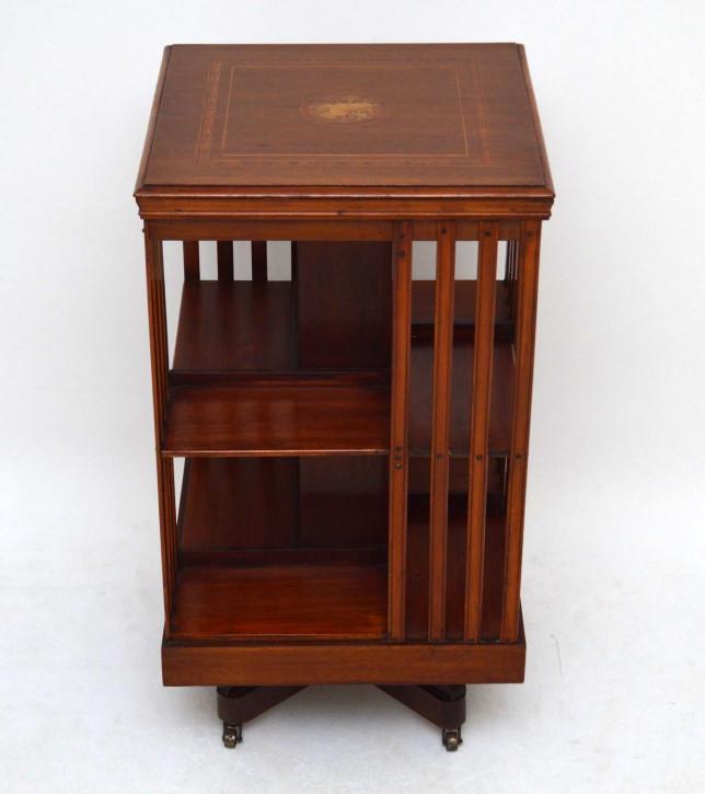 Antikes Revolving Bookcase Mahagoni