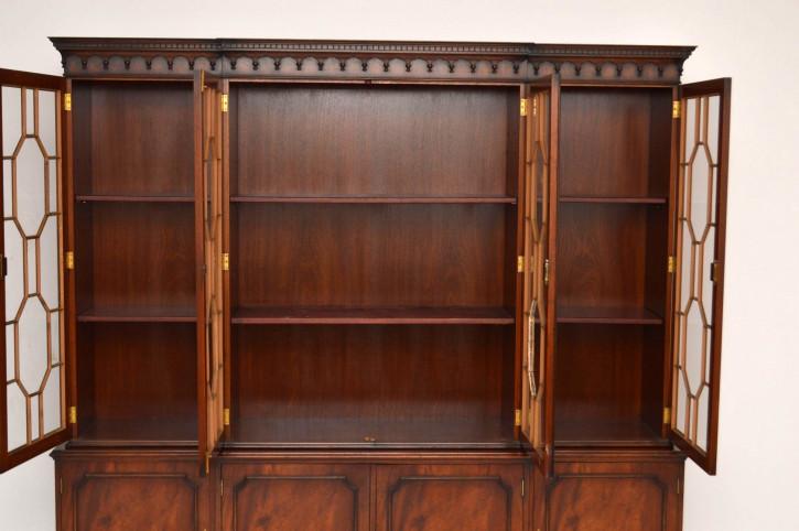 Antikes Breakfront Bücherschrank Georgean