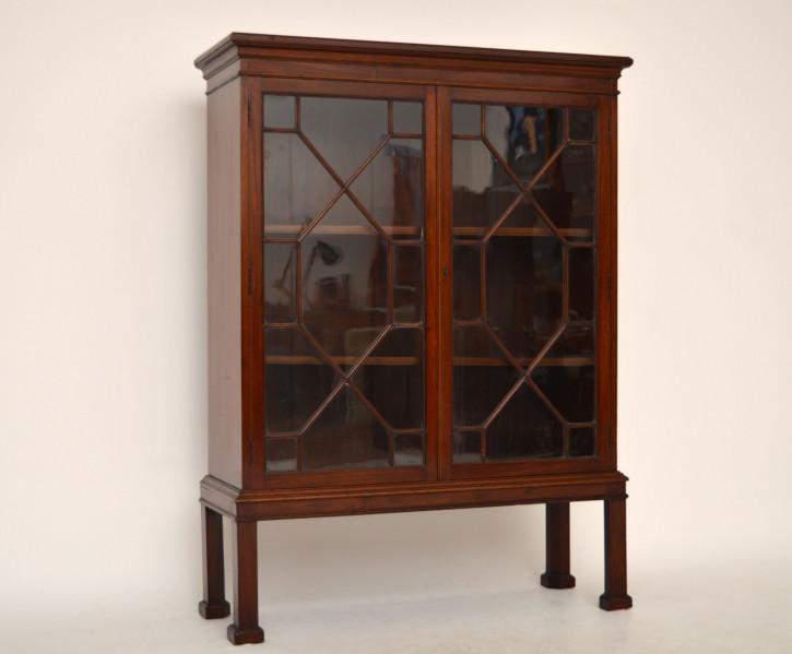 antike englische b cherschr nke massivholz holzschr nke. Black Bedroom Furniture Sets. Home Design Ideas