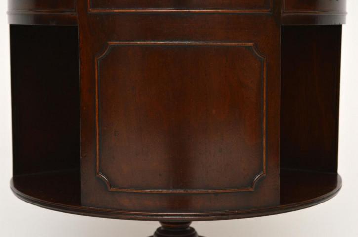 Antiker Regency-Stil Bücherregal/ Drum Tisch